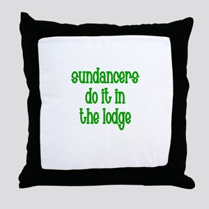 Sundancers do it in the Lodge Throw Pillow