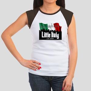 """New York's Little Italy"" Women's Cap Sleeve T-Shi"