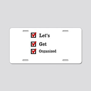 Get Organized Month Aluminum License Plate