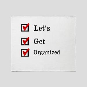 Get Organized Month Throw Blanket