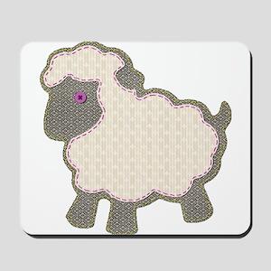 Little Girl Lamb Applique Mousepad