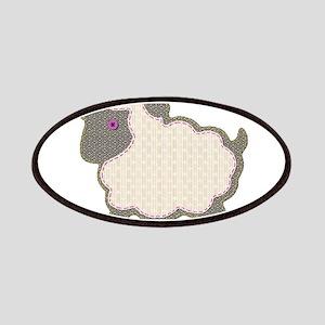 Little Girl Lamb Applique Patch
