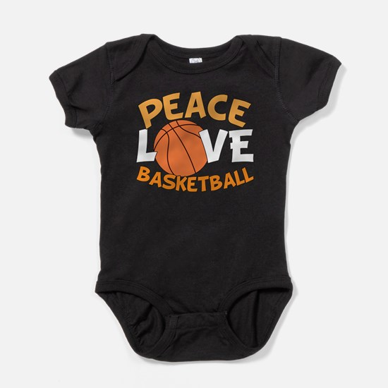 Love Basketball Baby Bodysuit