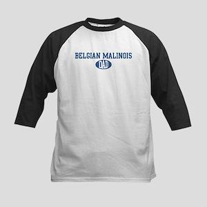 Belgian Malinois dad Kids Baseball Jersey