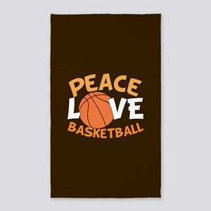 Love Basketball Area Rug