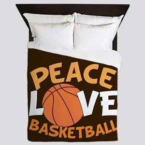 Love Basketball Queen Duvet