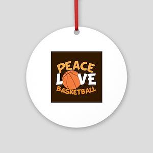 Love Basketball Ornament (Round)