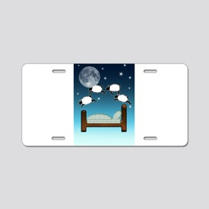 Bed, Sky, and Counting Shee Aluminum License Plate