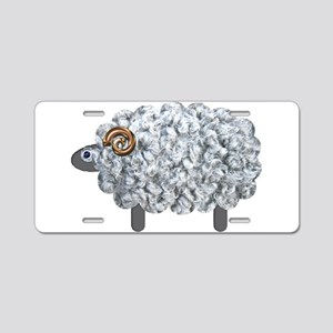 Fluffy Sheep Aluminum License Plate