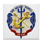 USS HALSEY POWELL Tile Coaster