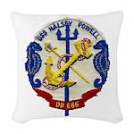 USS HALSEY POWELL Woven Throw Pillow