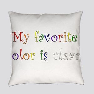 Favorite Color Clear Everyday Pillow