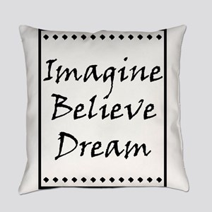 Imagine Believe Love copy Everyday Pillow