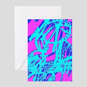Textured Swirls Greeting Cards