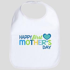 Happy First Mother's Day Boy Bib
