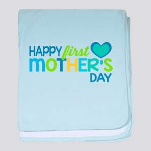 Happy First Mother's Day Boy baby blanket
