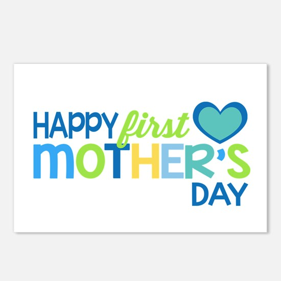 Happy First Mother's Day Postcards (Package of 8)