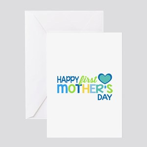 Happy First Mother's Day Boy Greeting Cards
