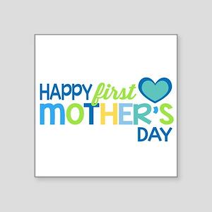 Happy First Mother's Day Boy Sticker