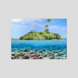 Tropical Island 5'x7'Area Rug