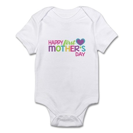 Happy First Mother's Day Girls Body Suit