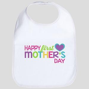 Happy First Mother's Day Girls Bib