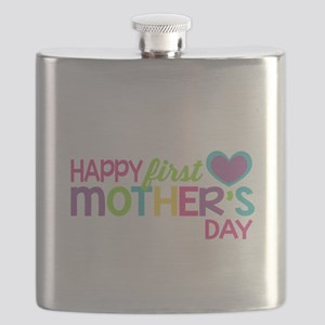 Happy First Mother's Day Girls Flask