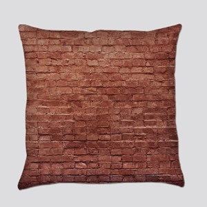 Rustic Rugged Urban Bricks Everyday Pillow