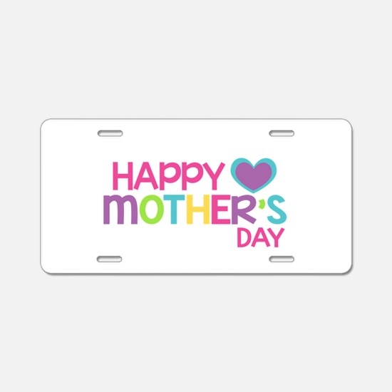 Happy Mother's Day Pink Aluminum License Plate