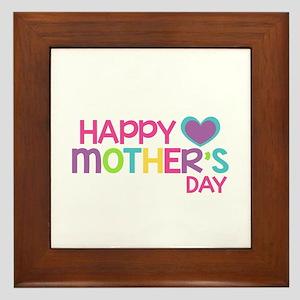 Happy Mother's Day Pink Framed Tile