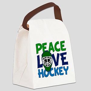 Love Hockey Canvas Lunch Bag