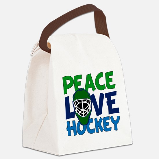Love Hockey Canvas Lunch Bag