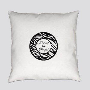 Animal Print About to Pop Everyday Pillow