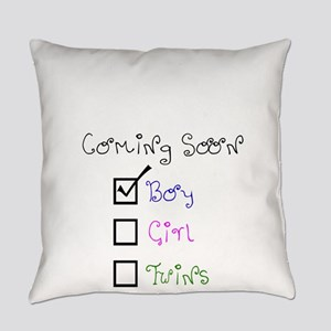 Coming Soon Baby Boy Everyday Pillow