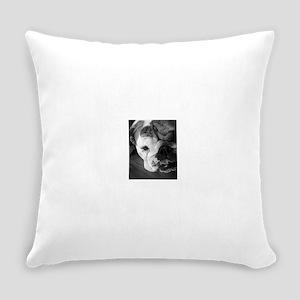 Rita Tongue BlackWhite 1 copy Everyday Pillow