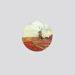 Tulips of Holland by Monet Mini Button