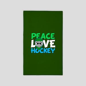 Green Hockey Area Rug