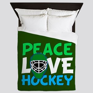 Green Hockey Queen Duvet