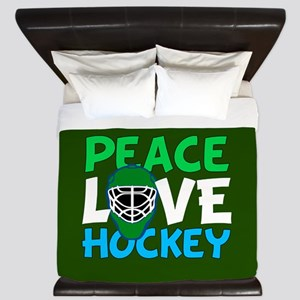 Green Hockey King Duvet