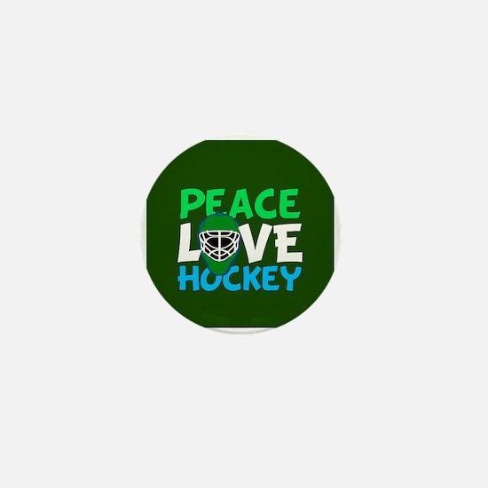 Green Hockey Mini Button