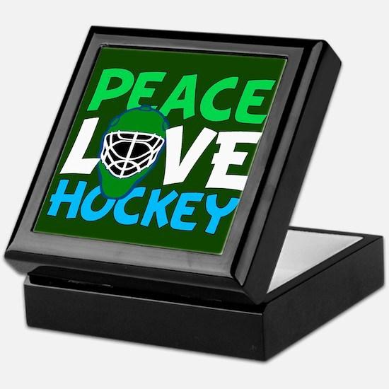 Green Hockey Keepsake Box