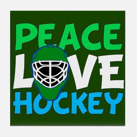 Green Hockey Tile Coaster