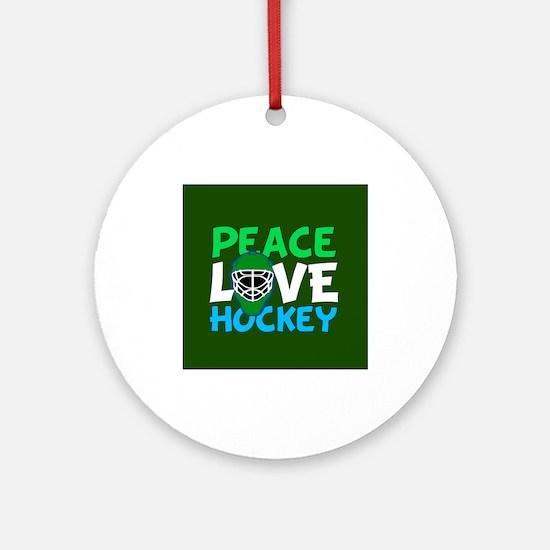 Green Hockey Ornament (Round)