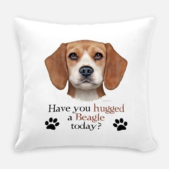 Beagle Hug Everyday Pillow
