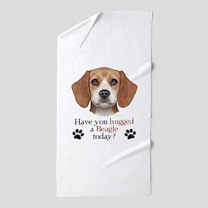 Beagle Hug Beach Towel