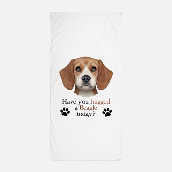 Beagle Hug Beach Towel