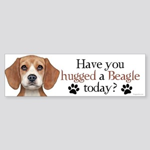 Beagle Hug Sticker (Bumper)