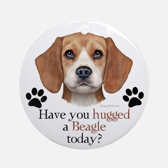 Beagle Hug Ornament (Round)