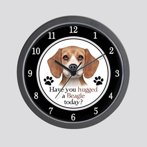 Beagle Hug Wall Clock