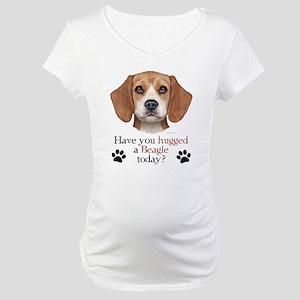Beagle Hug Maternity T-Shirt
